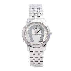 ساعة يد نسائية آيغنر كورتينا A26300 ستانلس ستيل ألماس فضية 36 مم