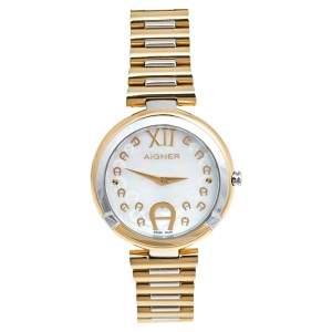 ساعة يد نسائية أيغنز غوريزيا A106200 صدف ستانلس ستيل ثنائي اللون 33 مم