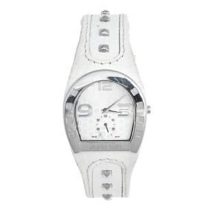 ساعة يد نسائية ايغنر كابري A19200 جلد ستانلس ستيل بيضاء 30 مم