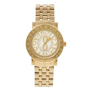 Aigner Champagne Gold Plated Stainless Steel Cortina A26300 Women's Wristwatch 35 mm