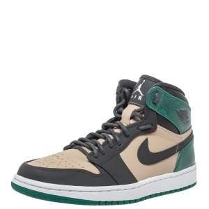 حذاء رياضي إير جوردان 1 × نايك جلد ثلاثي اللون ريترو سيلتيكس برقبة عالية مقاس 38.5