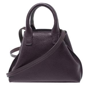 Akris Purple Leather Crossbody Bag