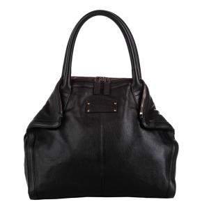 Alexander McQueen Black Leather  De Manta Totes