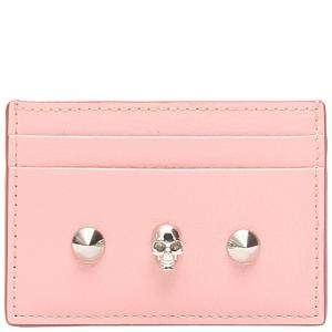 Alexander McQueen Rose Leather Card Wallet