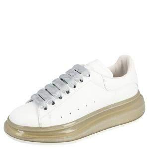 Alexander McQueen Brown Sole Leather Oversized Sneakers Size EU 37.5