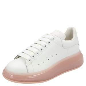 Alexander Mcqueen White/Pink Clearsole Oversized Sneaker Size EU 36.5