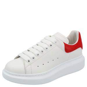 Alexander McQueen White Leather Oversized Sneakers Size EU 37
