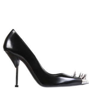 Alexander McQueen Black Leather Punk Stud Pumps Size IT 39