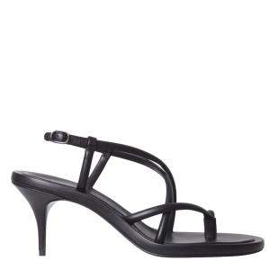 Alexander McQueen Black Leather Strappy Sandals Size IT 39