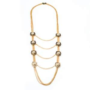 Alexander McQueen Faux Pearl & Crystal Station Layered Necklace