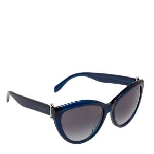 نظارة شمسية أليكساندر ماكوين  AM0003s أسيتات أزرق متدرجة عين القطة