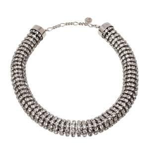 Alexander McQueen Crystal Tubular Choker Necklace