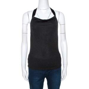 Alexander McQueen Vintage Grey Knit Halter Neck Top S