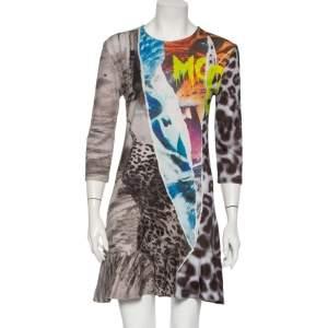 McQ by Alexander McQueen Multicolor Printed Knit Mini Dress L