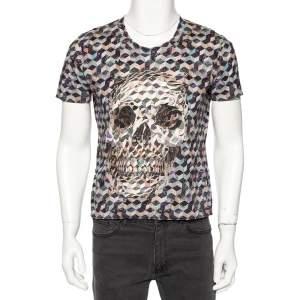 Alexander McQueen Multicolored Cotton Abstract Logo Print Cotton T-Shirt M
