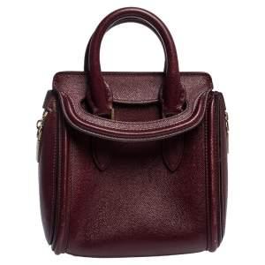 Alexander McQueen Burgundy Leather Mini Heroine Bag
