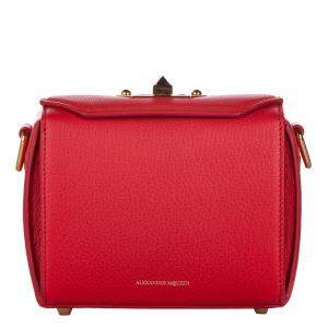 Alexander McQueen Red Leather Box 19 Bag
