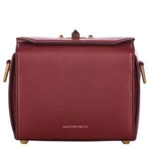Alexander McQueen Red Leather Box 19 Crossbody Bag