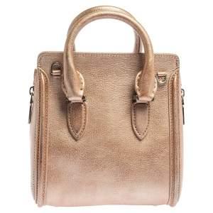 Alexander McQueen Metallic Holographic Leather Mini Heroine Bag
