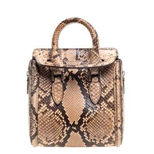 Alexander McQueen Multicolor Python Mini Heroine Bag