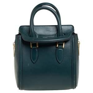 حقيبة أليكساندر ماكوين ميني هيروين جلد أخضر