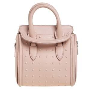 Alexander McQueen Pink Leather Mini Studded Heroine Shoulder Bag