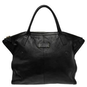 Alexander McQueen Black Leather Large De Manta Tote