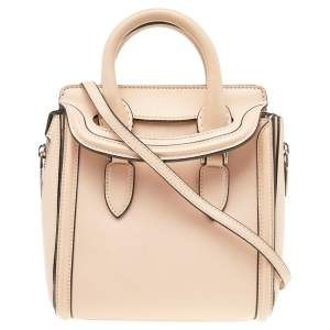 Alexander McQueen Beige Leather Mini Heroine Bag