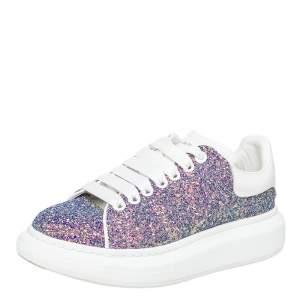 Alexander McQueen Multicolor Glitter Oversized Low Top Sneakers Size 39