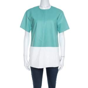 T By Alexander Wang Green Leather Boxy Fit Top S