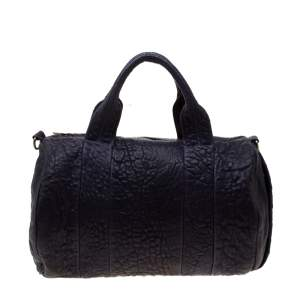 Alexander Wang Purple Pebbled Leather Rocco Duffel Bag