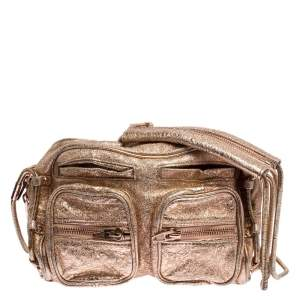 Alexander Wang Metallic Rose Gold Leather Brenda Shoulder Bag