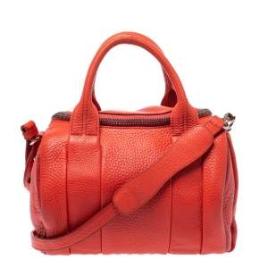 Alexander Wang Orange Leather Small Rockie Satchel