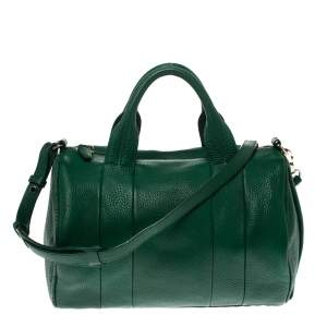 Alexander Wang Green Textured Leather Rocco Duffel Bag