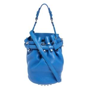 Alexander Wang Blue Leather Diego Bucket Bag