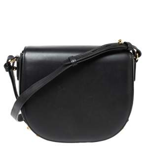 Alexander Wang Black Leather Studded Lia Shoulder Bag