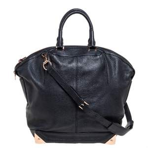 Alexander Wang Black Leather Large Emile Satchel