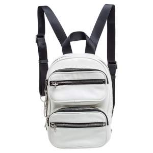Alexander Wang White Leather Medium Attica Backpack