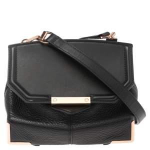 Alexander Wang Black Leather Mini Marion Prisma Shoulder Bag