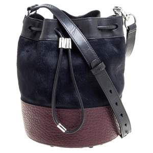 Alexander Wang Tri Color Calfhair and Leather Diego Bucket Bag