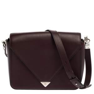 Alexander Wang Dark Plum Leather Prisma Envelope Shoulder Bag