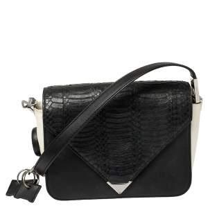 Alexander Wang Black Leather Small Prisma Envelope Crossbody Bag