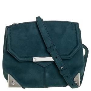 Alexander Wang Teal Blue Suede Marion Shoulder Bag