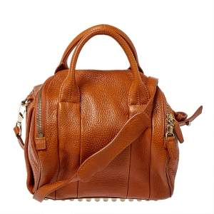 Alexander Wang Brown Pebbled Leather Small Rockie Satchel