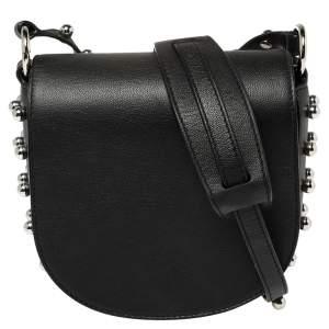 حقيبة كروس أليكساندر وانغ ميني ليا سوداء مرصعة