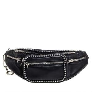 Alexander Wang Black Leather Studded Attica Belt Bag