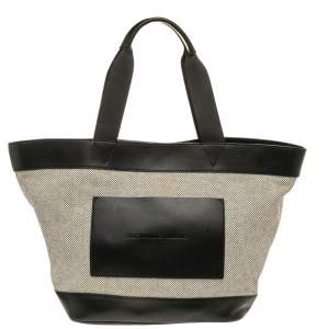 Alexander Wang Grey/Black Canvas and Leather Paneled Tote