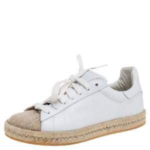 حذاء رياضي اليكساندر وانغ إسبادريل منخفض من أعلى مقدمة جوت و جلد أبيض مقاس 37