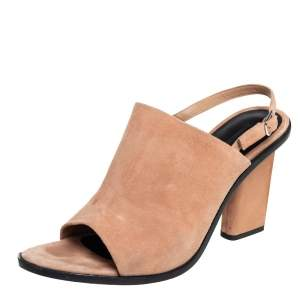 Alexander Wang Beige Suede Cole Slingback Sandals Size 40.5