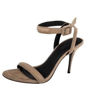 Alexander Wang Beige Suede Antonia Ankle Wrap Sandals Size 39
